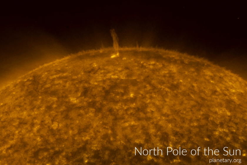 North pole postcard: The Sun