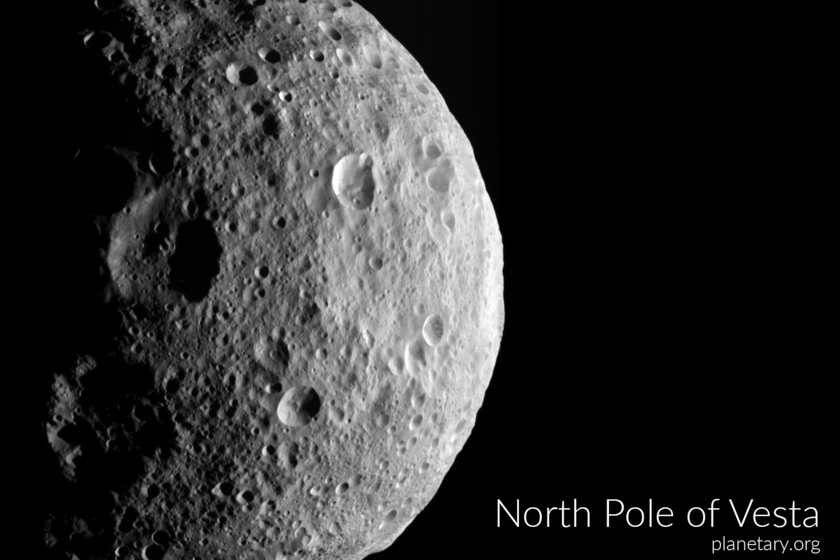 North pole postcard: Vesta