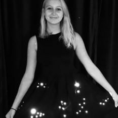 LED dress showing northern hemisphere constellations