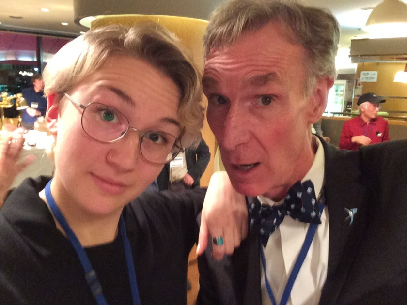 Bill and a fan at ISSS 2017