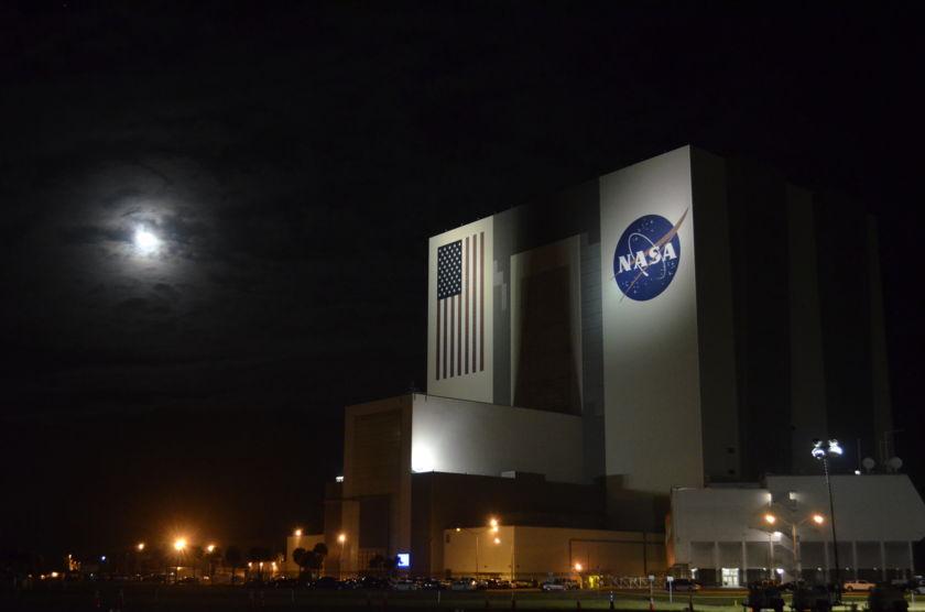 NASA VAB at night