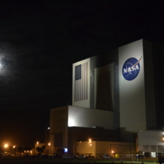 NASA VAB at night