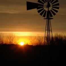 Sunrise, captured four miles south of Ravenna