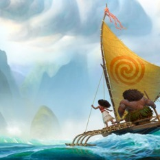 Moana and Maui take to the sea