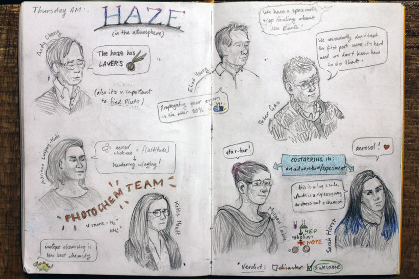 Winterhazelly's New Horizons Science Team Meeting sketchbook page 3