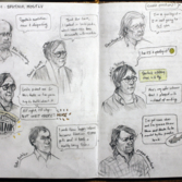 Winterhazelly's New Horizons Science Team Meeting sketchbook page 5
