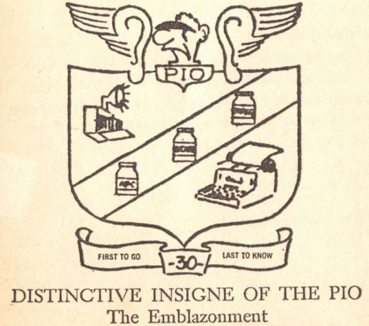 Public affairs officer coat of arms