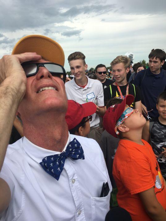 At the eclipse in Beatrice, Nebraska