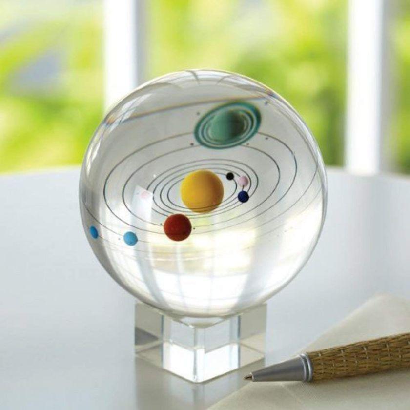 Danielle Gunn: Crystal solar system ball