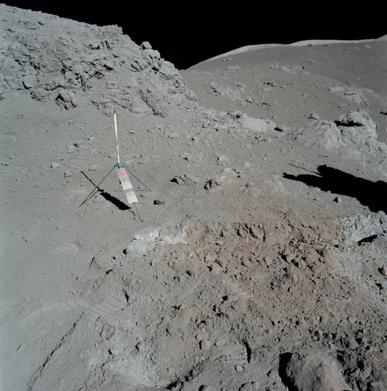 Apollo 17 orange soil