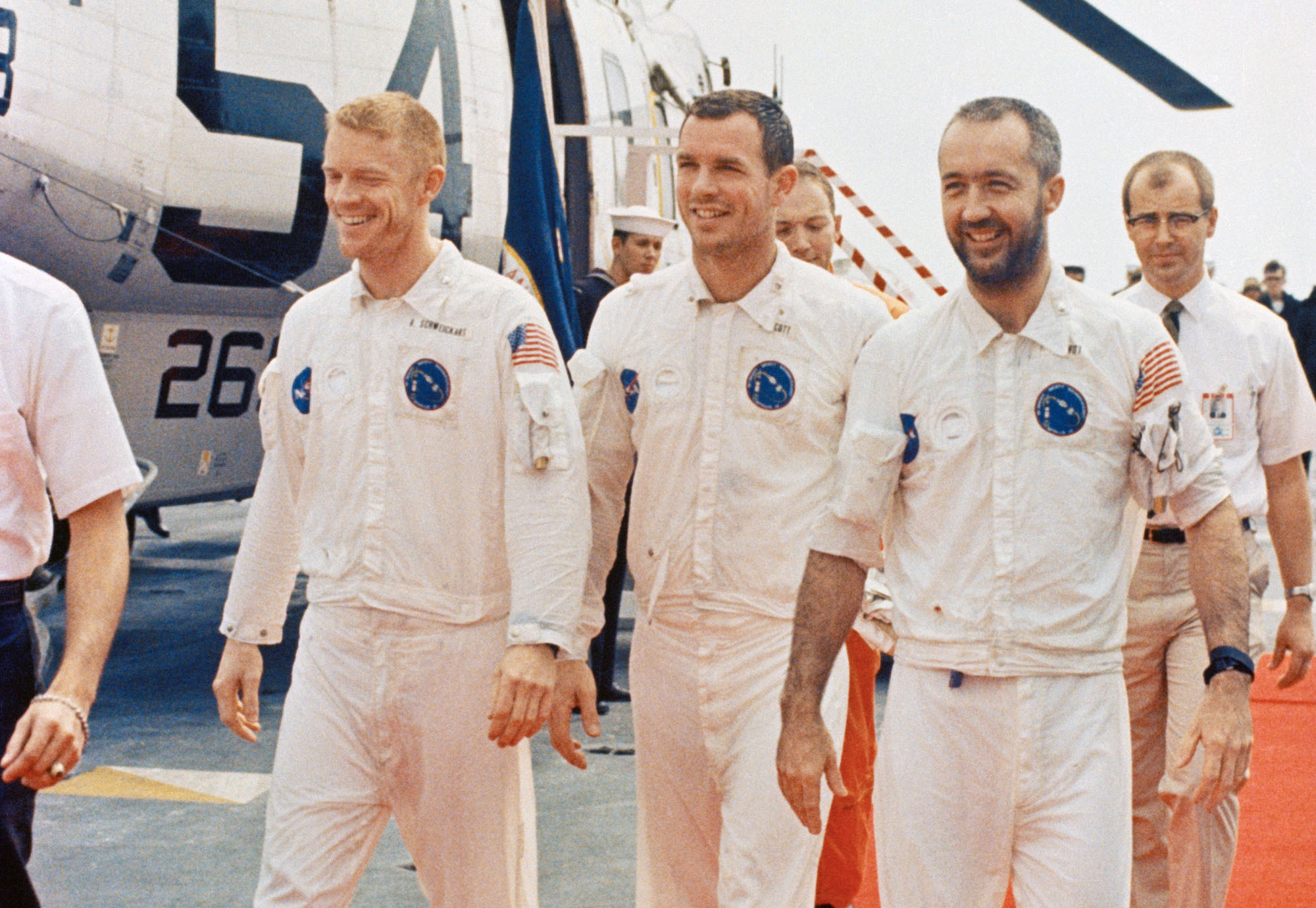 Apollo 9 crew after recovery