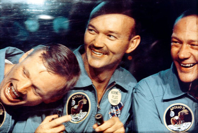 Apollo 11 crew in quarantine