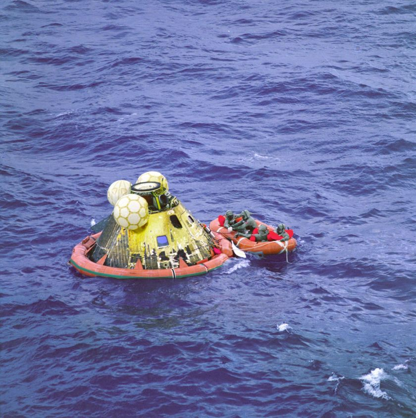 Apollo 11 crew recovery