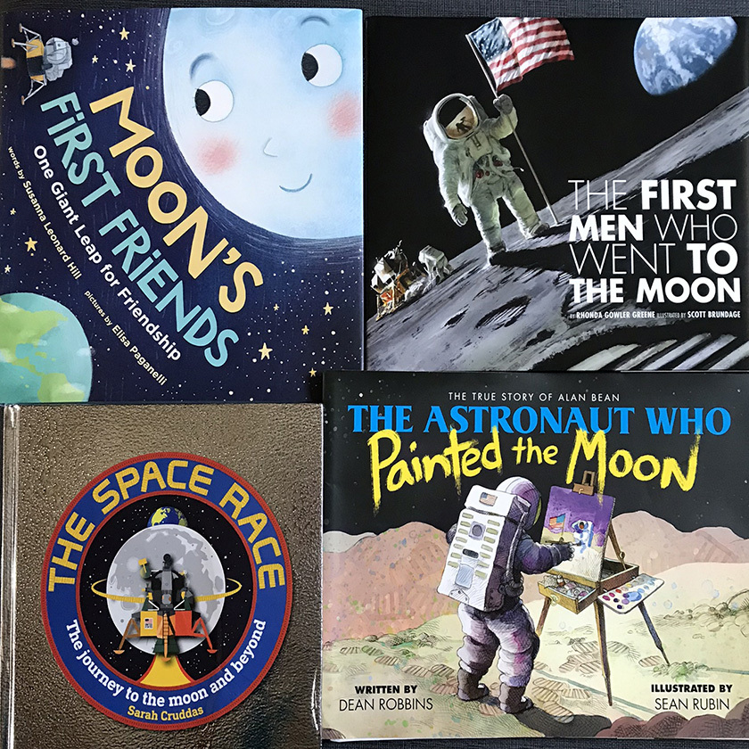 Apollo-related books for kids