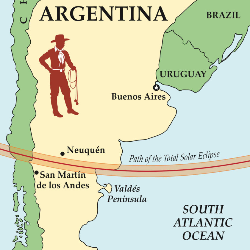 Argnetina 2020 eclipse path
