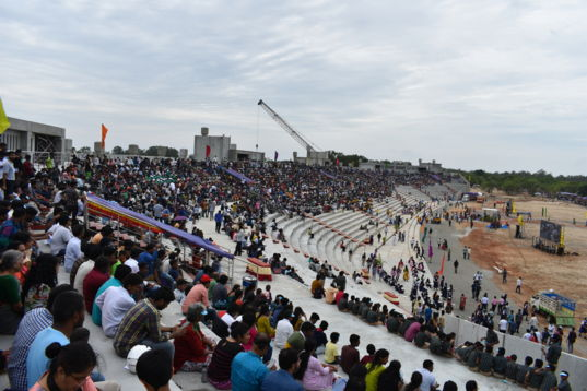 Crowd at Chandrayaan-2 launch