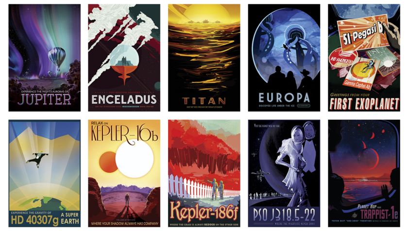 JPL's Visions of the Future Posters