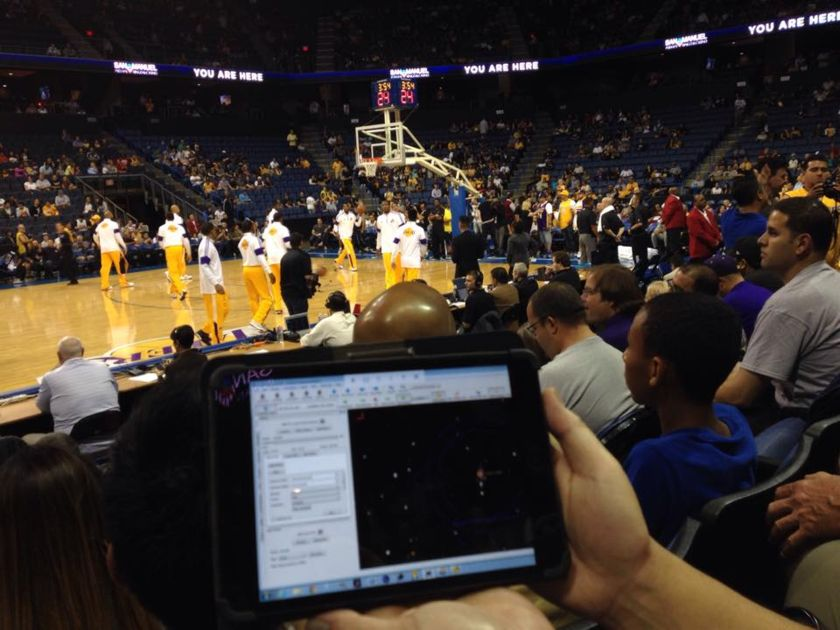 Monitoring Telescopes from a Basketball Game