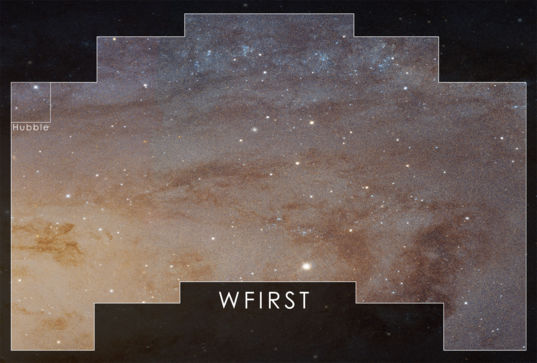 WFIRST field of view versus Hubble