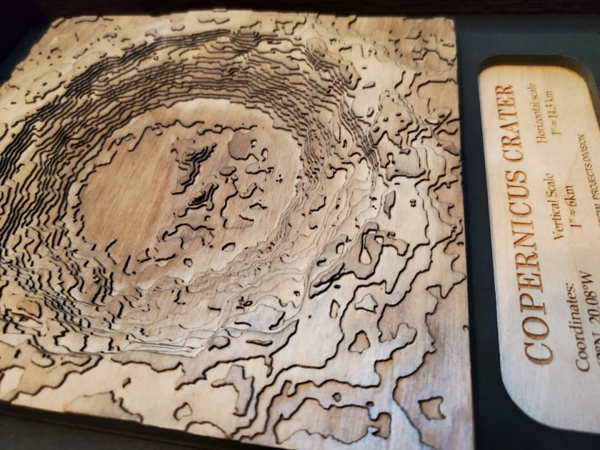 Copernicus crater in plywood