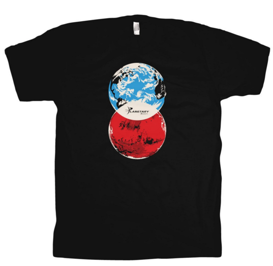 Earth-Mars Venn Diagram T-shirt