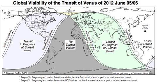 Venus Transit 2012 Visibility