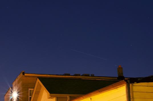 Urban astrophotography: ISS Pass