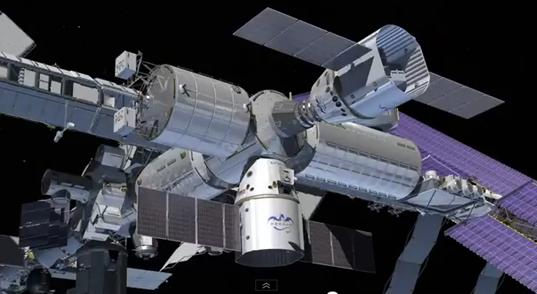 Double Dragons docked at ISS