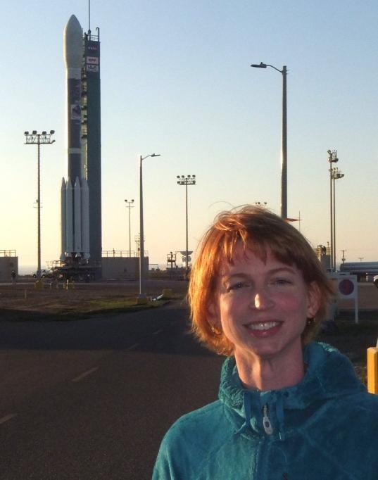 Emily Lakdawalla with NPP's Delta 2 rocket
