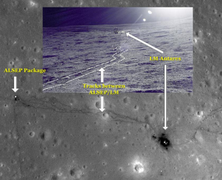 Apollo 14 site as seen by LRO