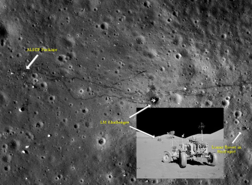 Apollo 17 site as seen by LRO