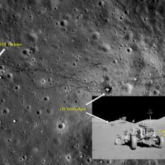 Apollo 17 site as seen by LRO