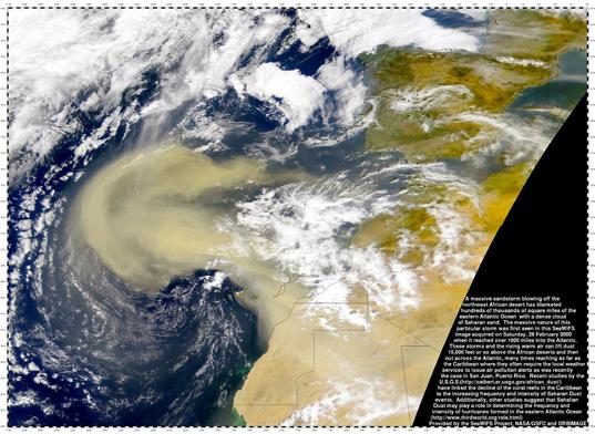 African sandstorm as seen by SeaWiFS