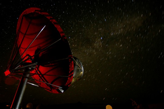 The Allen Telescope Array - timelapse at night with Milky Way