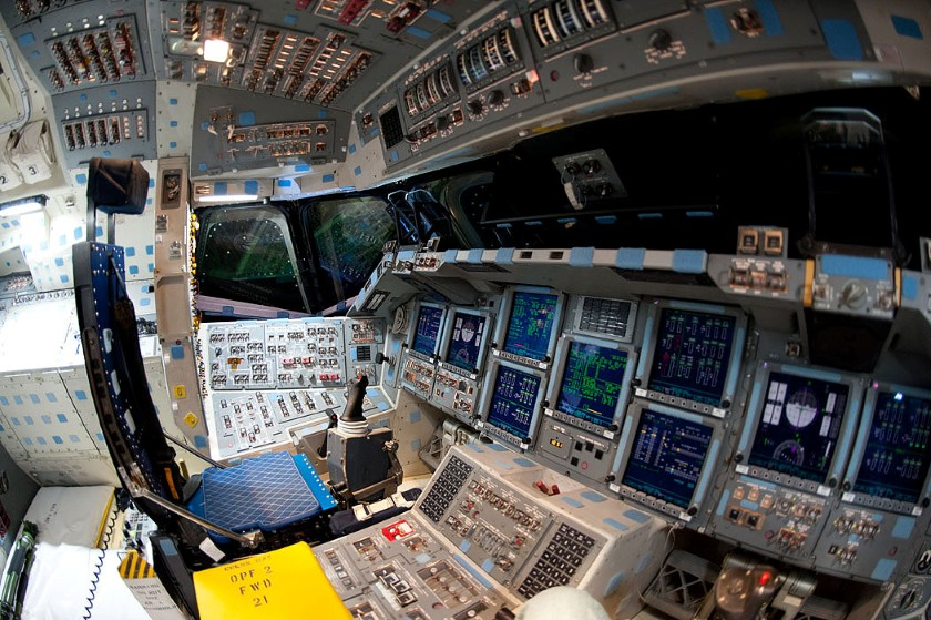 Endeavour flight deck, powered on for almost the last time 11