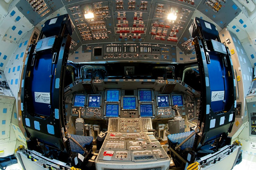 Endeavour flight deck, powered on for almost the last time 4