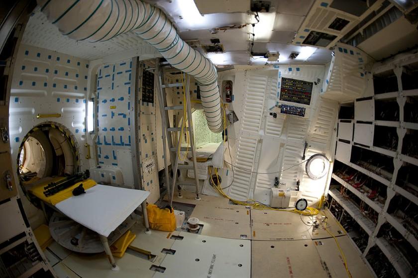 Endeavour's mid-deck