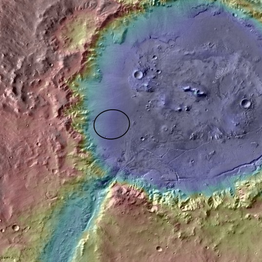 Curiosity landing site: Holden