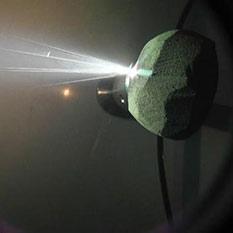 Laser Bees sandstone rock narrow ejecta cone