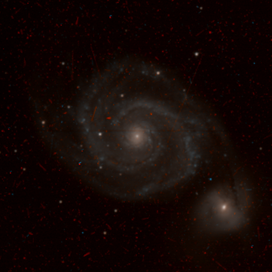 M51, the Whirlpool Galaxy (colorized)