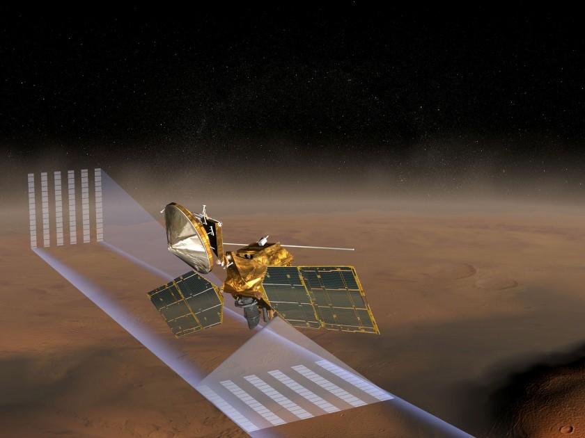 Mars Reconnaissance Orbiter Mars Climate Sounder artist concept