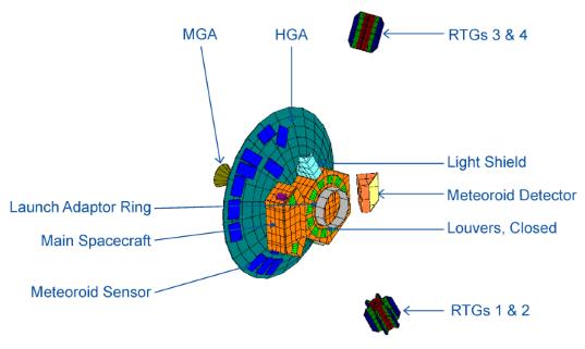 Geometric model of the Pioneer 10 spacecraft