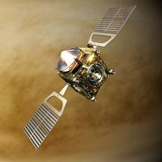 Venus Express over Venus' clouds