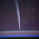 Comet Lovejoy from the Space Station