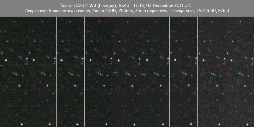 Lovejoy's comet