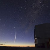 Comet Lovejoy over Paranal
