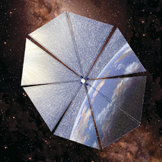 Cosmos-1 in flight