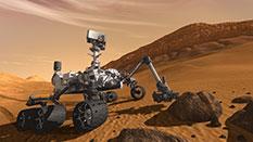 Curiosity sampling the Martian surface