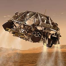 Curiosity landing: Powered descent phase