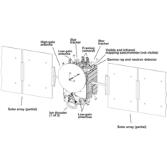 Diagram of the Dawn spacecraft